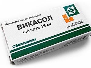 Лечение кровотечения при климаксе с помощью Викасола
