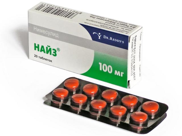 Таблетки Найз при месячных