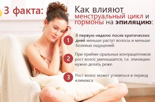 Эпиляция и менструальный цикл